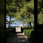 Luxury seafront villa for sale in Italy, Puglia, Salento: garden path